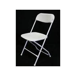 All White Folding Chair