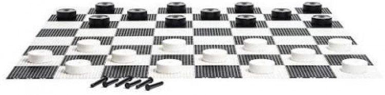 Giant Checkers set 10 pieces 10'x10' Mat
